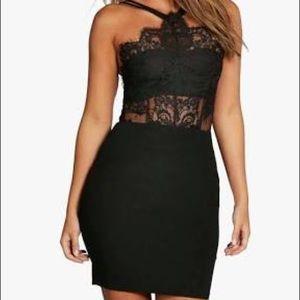Dresses & Skirts - black eyelash dress (bodycon)